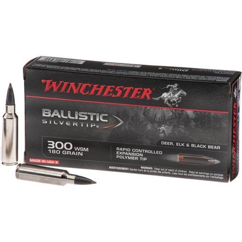 Winchester .300 WSM 180-Grain Ballistic Silvertip Rifle Ammunition