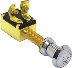 Marine Raider 2-Position Brass Push/Pull Switch