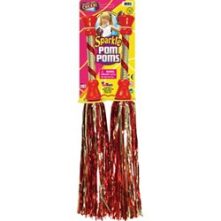 "Ready Set Cheer 17"" 2-Color Sparkle Pom Poms"
