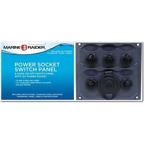Marine Raider Electrical 5-Gang Switch Panel