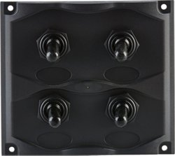 Marine Raider Electrical 4-Gang Switch Panel