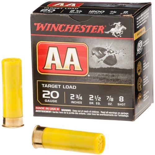 Winchester AA 20 Gauge 8 Shotshells