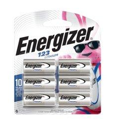 Energizer® CR123 Lithium Batteries 6-Pack