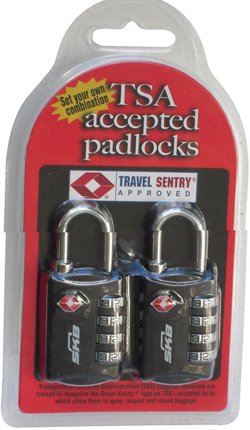 Airline Approved Padlocks 2-Pack