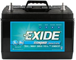 Exide Stowaway Marine/RV Deep Cycle Battery