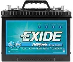 Exide Stowaway Deep-Cycle Marine and RV Battery