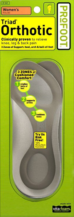 Profoot Women's Triad® Orthotic Insoles