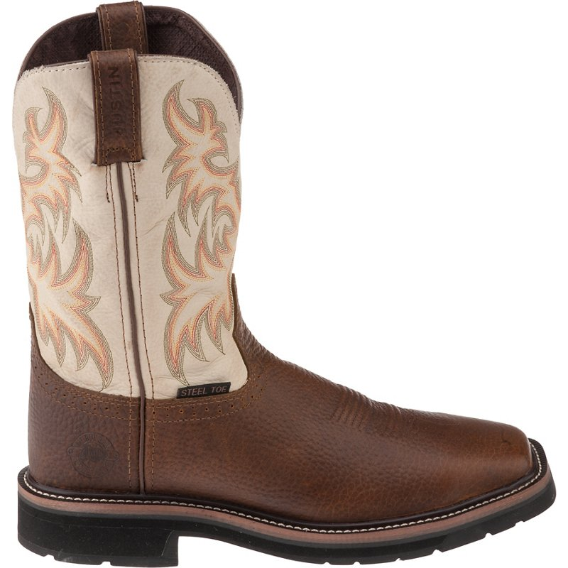 1c452b5c0ae Justin Boots Stampede Collect WK4684 Men's Bronze Boot 10 D