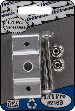 "Li'l Pro 3/8"" Thread Square Rail Rod Holder Clamp Base"