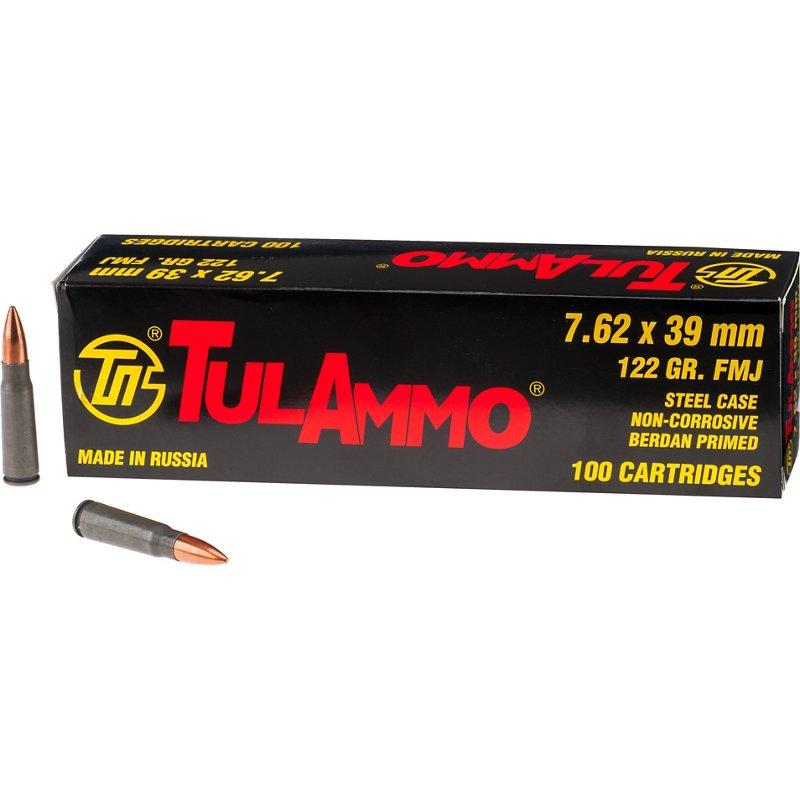 TulAmmo 7.62mm x 39mm Centerfire Rifle Ammunition, 122 – Rifle Shells at Academy Sports