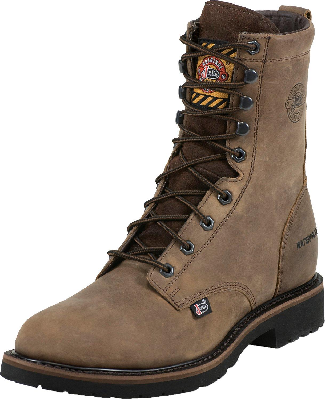 fc427ebaf999 Display product reviews for Justin Men s Wyoming Waterproof Work Boots