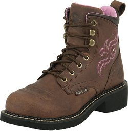 Justin Women's Gypsy® Aged Bark Steel Toe Work Boots