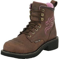 Women's Gypsy Aged Bark EH Steel Toe Lace Up Work Boots