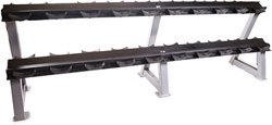 """95"""" 2-Tier Dumbbell Rack with Saddles"""