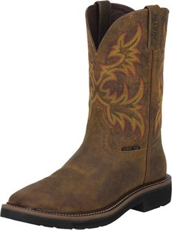 Justin Women's Stampede Rugged Cowhide Steel Toe Western Work Boots