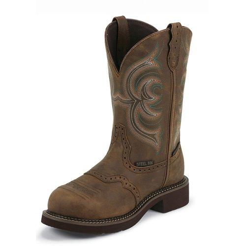 Justin Women's Gypsy® Aged Bark Waterproof Steel Toe Western Work Boots