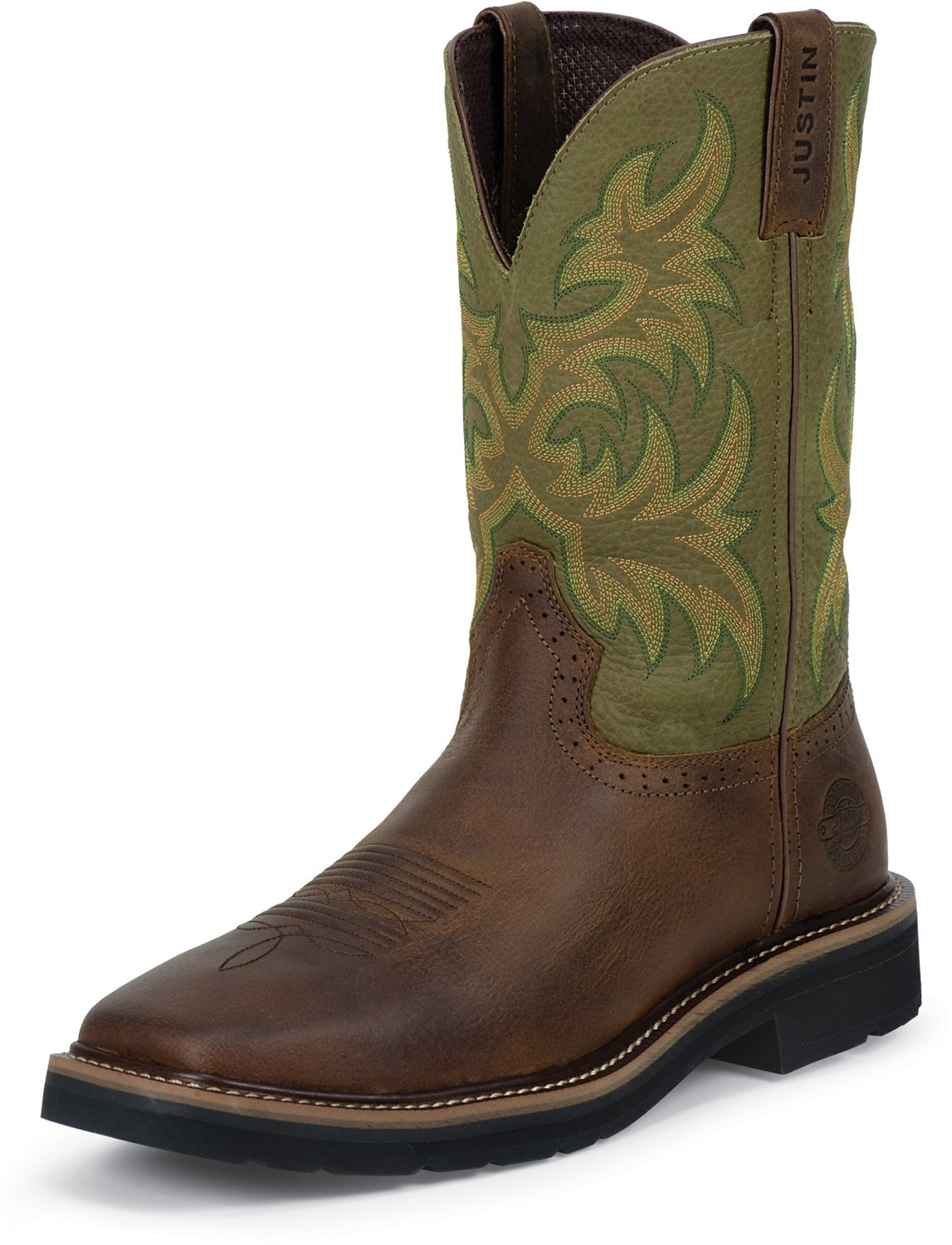 6c1264f307fd9c Display product reviews for Justin Men s Waxy Cowhide Western Work Boots