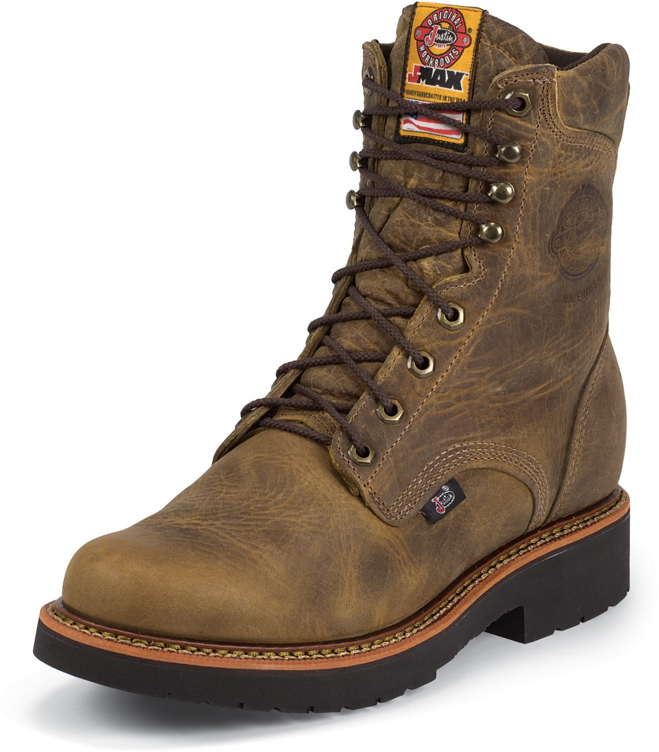 cf66686202e92 Display product reviews for Justin Men's Rugged Gaucho EH Steel-Toe Lace Up  Work Boots