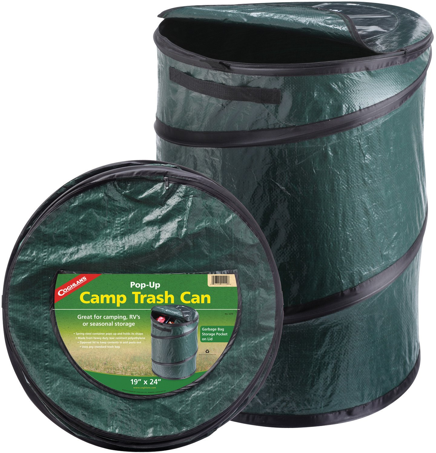 Display product reviews for Coghlan's 33-Gallon Pop-Up Camp Trash Can