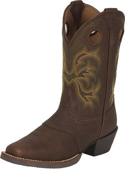 Justin Boys' Stampede Rawhide Cowboy Boots