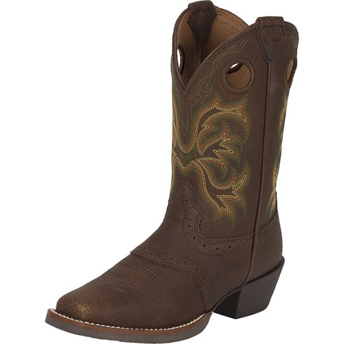 Justin Boys' Stampede Rawhide Cowboy Boots