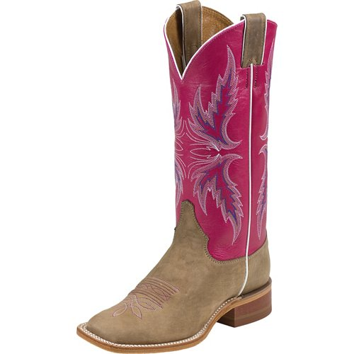 Justin Women's Bent Rail Vintage Cow Western Boots