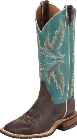 Justin Women's Bent Rail Puma Cowhide Western Boots