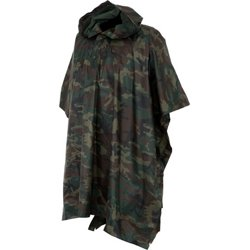 Adults' Camo Poncho
