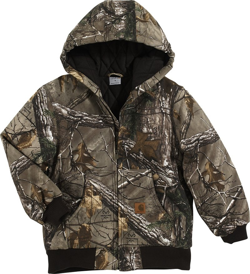 Carhartt Boys' Camo Active Jacket (Brown, Size XX Small) - Men's Work Apparel, Men's Work Jackets at Academy Sports thumbnail