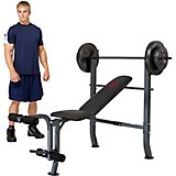 Marcy Diamond Elite Standard Bench with 80 lb Weight Set