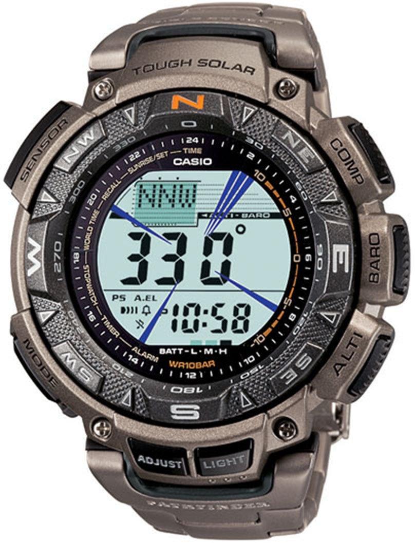 Casio Men's Pro-Trek PAG240T-7CR Pathfinder Triple-Sensor Multifunction Titanium Watch