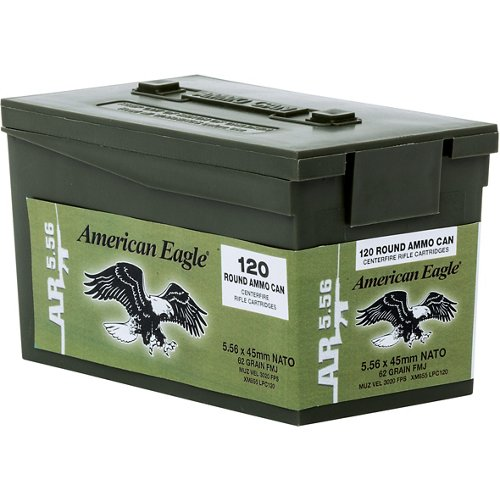 Federal Premium American Eagle XM 855 5.56 NATO 62-Grain Centerfire Rifle Ammunition