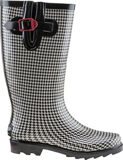 Austin Trading Co. Women's Houndstooth Rubber Boots