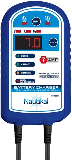Nautikal 7 Amp Battery Charger