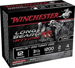 Winchester Long Beard XR 12 Gauge 3.5 inches 4 Shot Shotshells