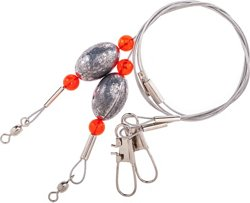 """Lazer Sharp 1/2 oz. - 18"""" Ready Rigs with Egg Sinkers 2-Pack"""