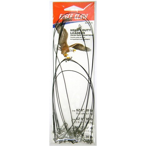 Eagle Claw Steel Leaders 10-Pack