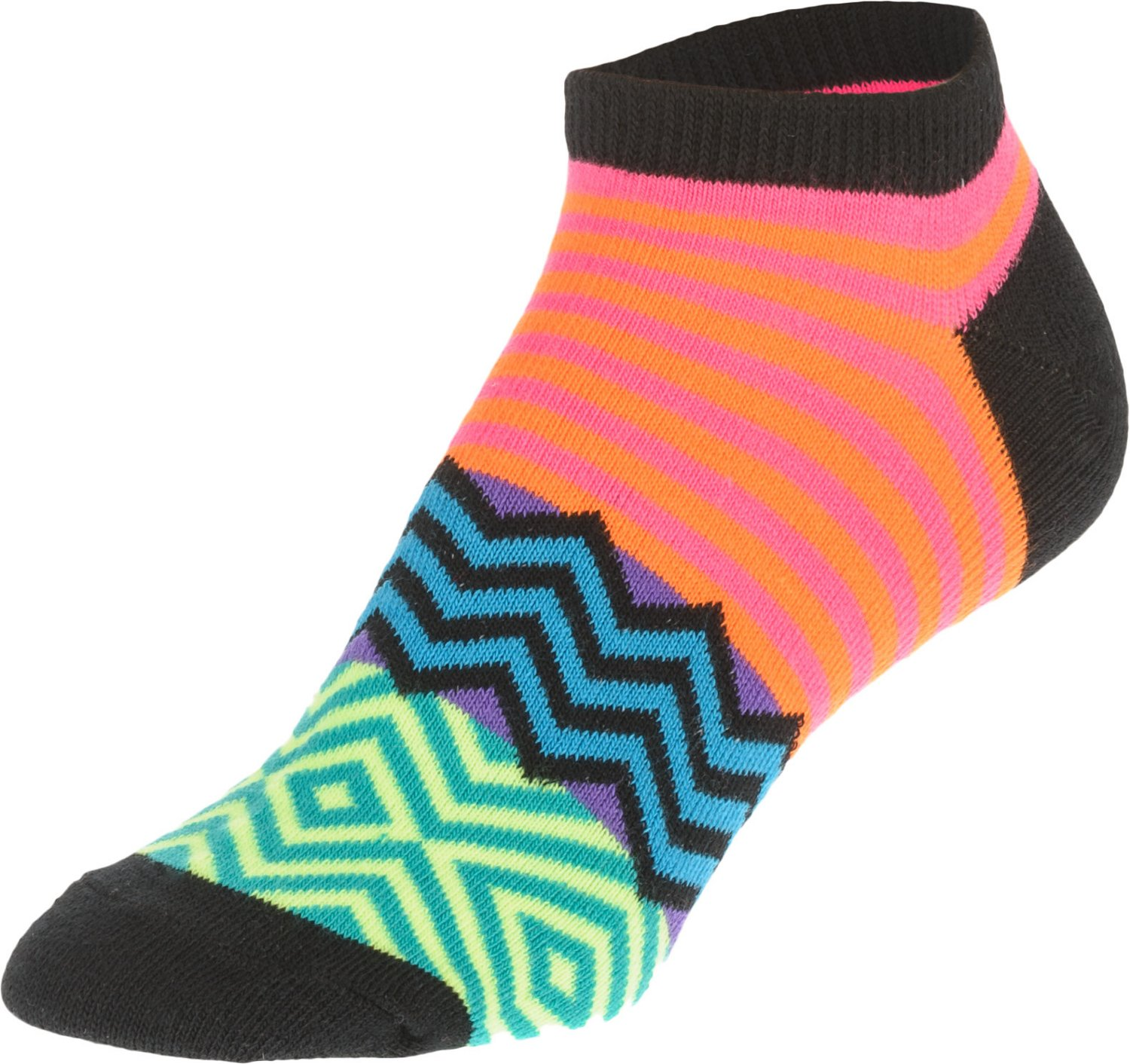 BCG Women's Aztec Assorted Pattern Ankle Socks 6 Pack - view number 2