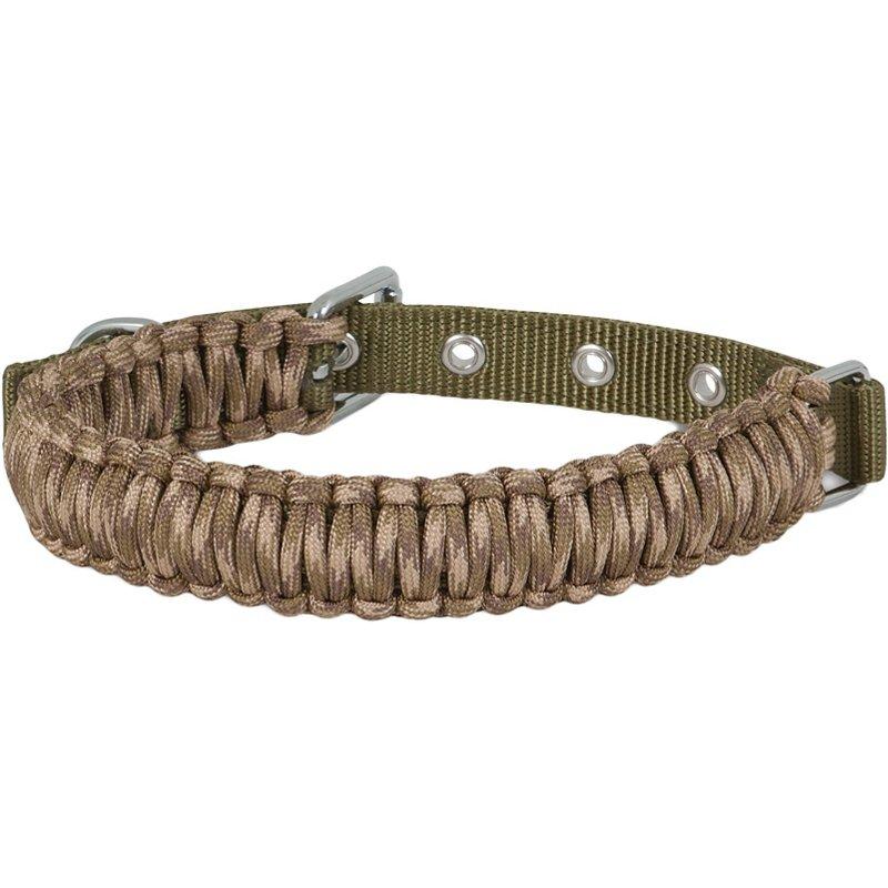 Aspen Pet Camo Paracord Collar Green/Brown, 22 – Pet Accessories at Academy Sports