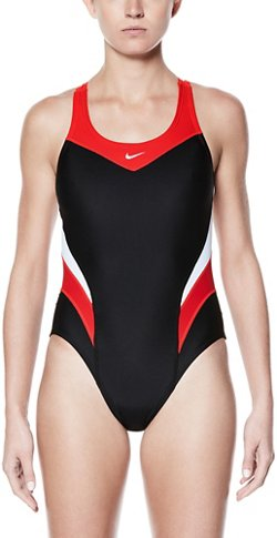 Nike Women's Victory Colorblock 1-Piece Performance Swimsuit