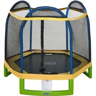 JumpZone 7 ft My First Trampoline Round with Enclosure