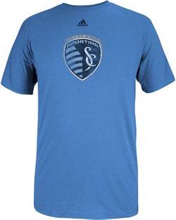 adidas™ Men's Sporting Kansas City Logo Set Short Sleeve T-shirt