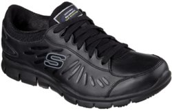 SKECHERS Women's Eldred Slip-Resistant Service Shoes
