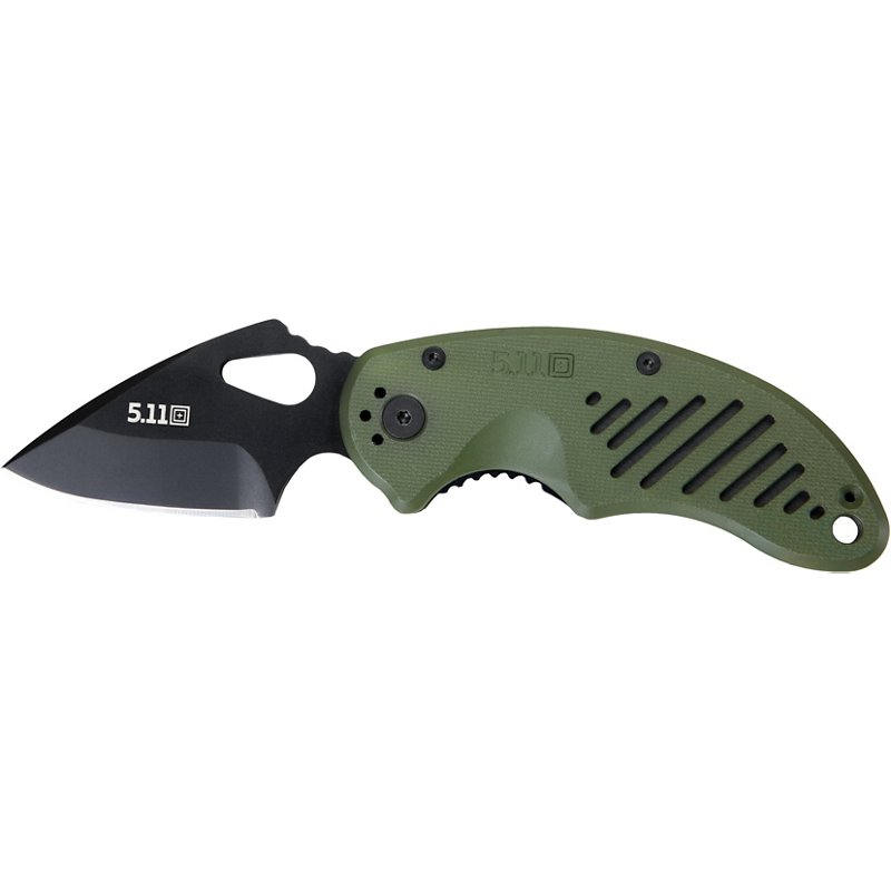 5.11 Tactical DRT Plain Edge Folding Knife Green - Folding/Pocket Knives at Academy Sports thumbnail