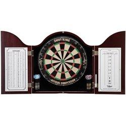 Gld Cambridge Mahogany Dartboard Cabinet