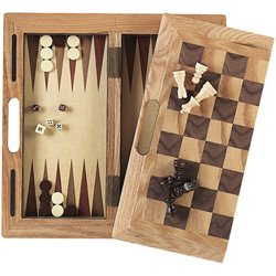 3-in-1 Wood Game Set