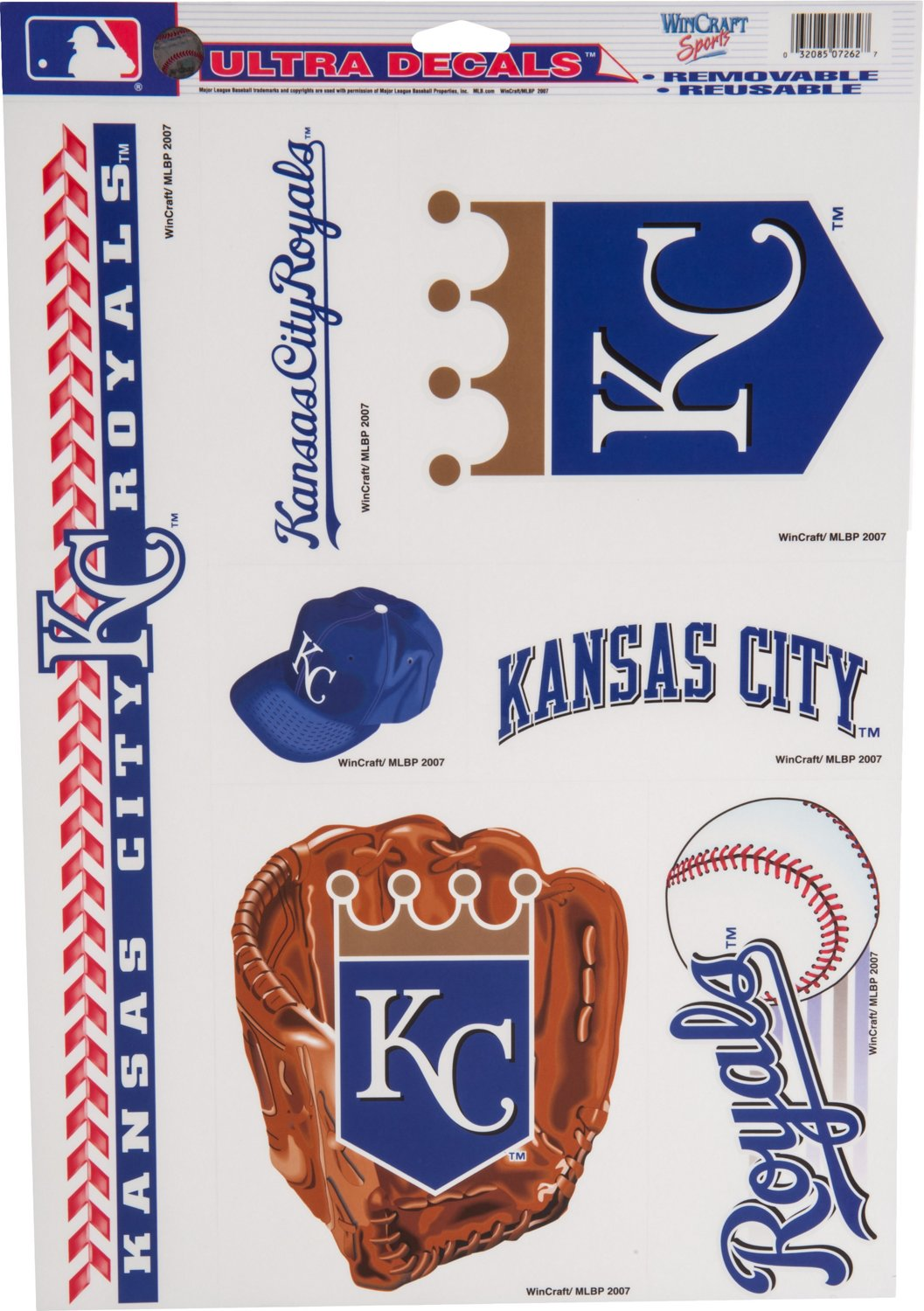 Display product reviews for WinCraft Kansas City Royals Ultra Decals 7-Pack