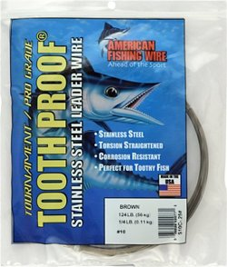 American Fishing Wire Tooth Proof 174 lbs - 30 ft Single-Strand Leader Wire