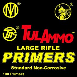 TulAmmo Standard Large Rifle Primers 100-Pack