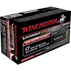 Varmint HV .17 WSM 20-Grain Rimfire Rifle Ammunition